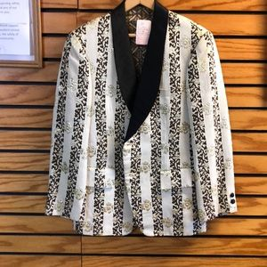 Beautiful brocade custom made jacket XL